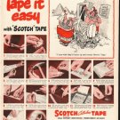 """1948 Scotch Tape Ad """"Tape it easy"""""""