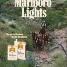 "1980 Marlboro Lights Ad ""spirit of Marlboro"""