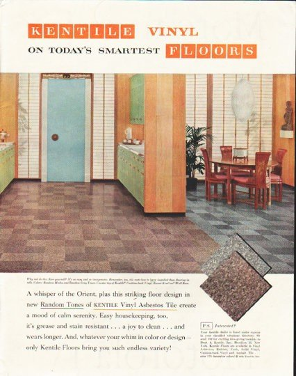 "1958 Kentile Floors Ad ""Today's Smartest"""