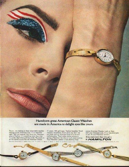 "1965 Hamilton Watch Ad ""American Classic Watches"""