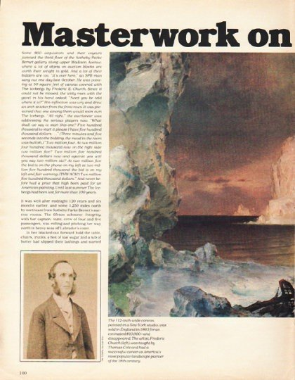 """1980 Frederic Church Article """"The Icebergs"""" ~ Masterwork on Ice"""