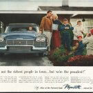 """1958 Plymouth Ad """"not the richest people"""" ~ (model year 1958)"""