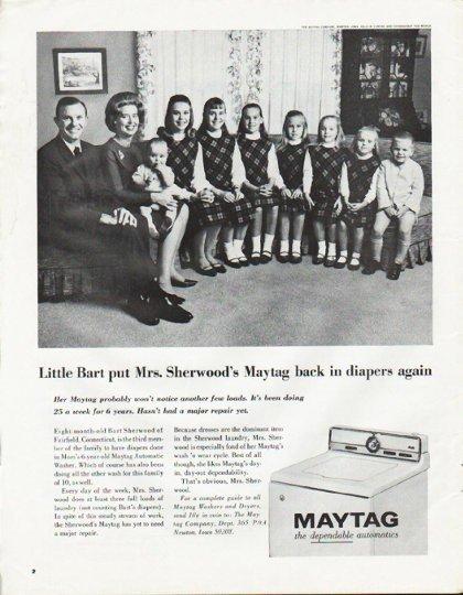 """1965 Maytag Ad """"Little Bart"""""""