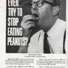 "1965 The POST Ad ""stop eating peanuts"""
