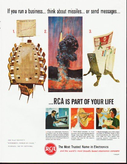 "1964 RCA Electronics Ad ""If you run a business"""
