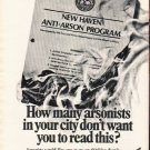 "1980 Aetna Life & Casualty Ad ""How many arsonists"""