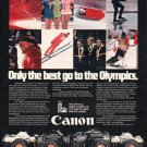 "1980 Canon Camera Ad ""Only the best"""