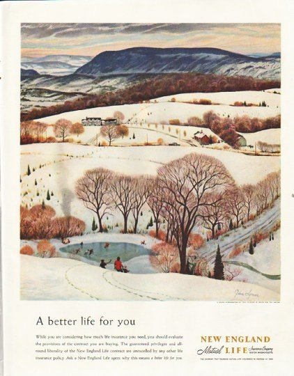"1958 New England Mutual Life Insurance Company Ad ""A better life for you"""