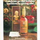 """1979 Old Grand-Dad Whiskey Ad """"old holiday tradition"""""""