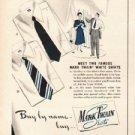 "1948 Mark Twain Shirts Ad ""Buy by name"""