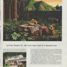 "1958 Weyerhaeuser Timber Company Ad ""growing Douglas fir"""
