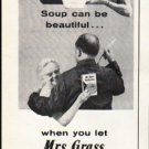 """1961 Mrs. Grass Soup Ad """"Soup can be beautiful"""""""