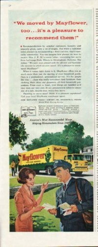 "1961 Mayflower Movers Ad ""We moved by Mayflower"""