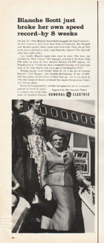 "1961 General Electric Ad ""Blanche Scott"""