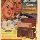 "1948 Lane Cedar Hope Chest Ad ""Love Eternal"""