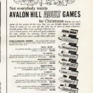 """1961 Avalon Hill Adult Games Ad """"for Christmas"""""""