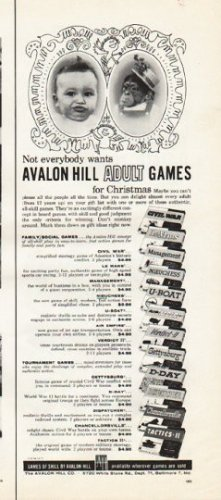 "1961 Avalon Hill Adult Games Ad ""for Christmas"""