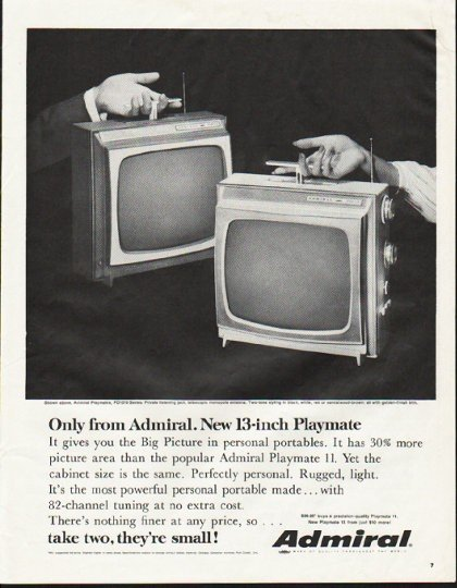 """1964 Admiral Television Ad """"Only from Admiral"""""""