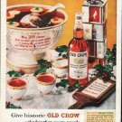 "1961 Old Crow Bourbon Whiskey Ad ""historic Old Crow"""