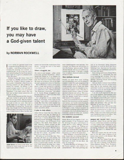 "1965 Famous Artists Schools Ad ""If you like to draw"""