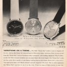 "1961 Mido Watch Ad ""Variations On A Theme"""