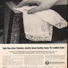 "1961 Edison Electric Institute Ad ""electric house heating"""