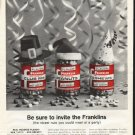 "1961 Franklin Peanuts Ad ""invite the Franklins"""