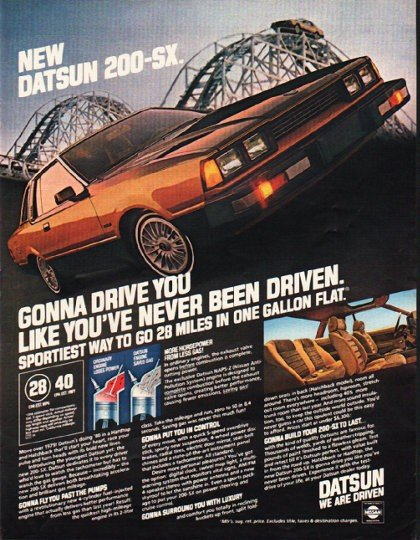 "1980 Datsun Ad ""Gonna Drive You"" ~ (model year 1980)"