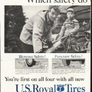 "1958 U.S. Royal Tires Ad ""Which safety"""