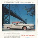 """1958 Oldsmobile Ad """"free-and-easy"""" ~ (model year 1958)"""
