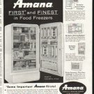 "1958 Amana Freezer Ad ""First and Finest"""