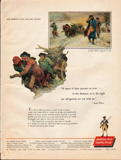 """1961 America Fore Insurance Ad """"Our destiny"""""""