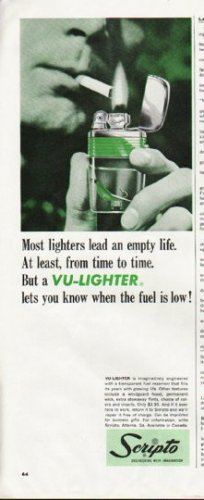 "1964 Scripto Lighter Ad ""Vu-Lighter"""