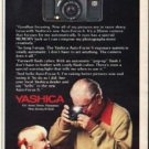 "1980 Yashica Camera Ad ""Goodbye focusing"""