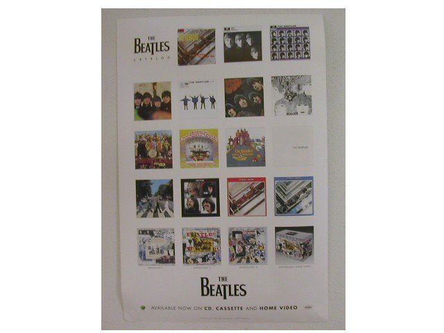 Beatles CD Catalog New op '96 2 Sided Photo Promo Poster