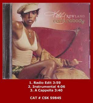 Destiny's Child R&B) Kelly Rowland Can't Nobody +2 New op Promo PS CD