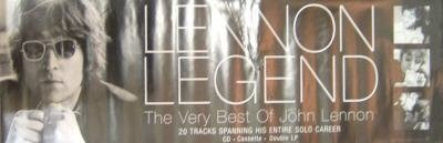 Beatles) John Lennon Legend Very Best Of Mint op '98 Promo Poster