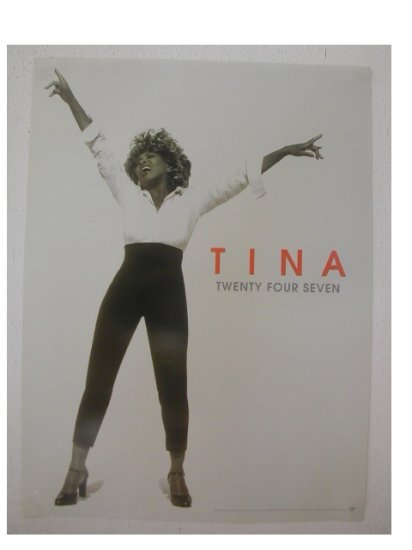 R&B Rock) Tina Turner Twenty Four Seven New 2000 Promo Poster