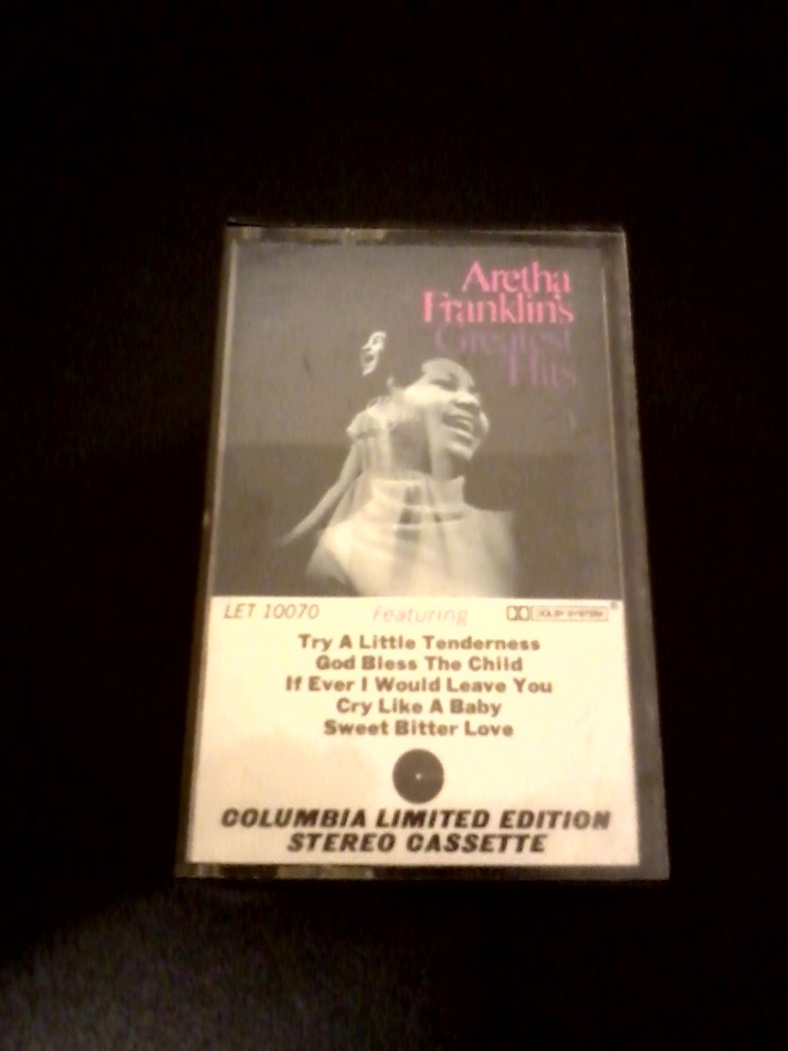 R&B Blues Jazz) Aretha Franklin Greatest Hits VG+  Limited Edition CBS Cassette