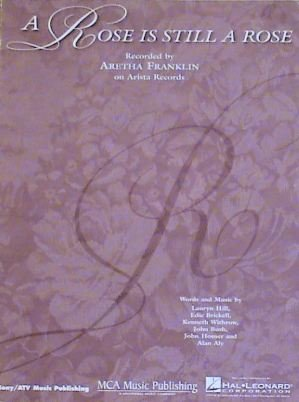 R&B) Aretha Franklin A Rose Is a Rose VG+ Original '92 PS Sheet Music