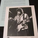 Blues) Elvin Bishop Bossman Mint op '99 Press Kit & Photo