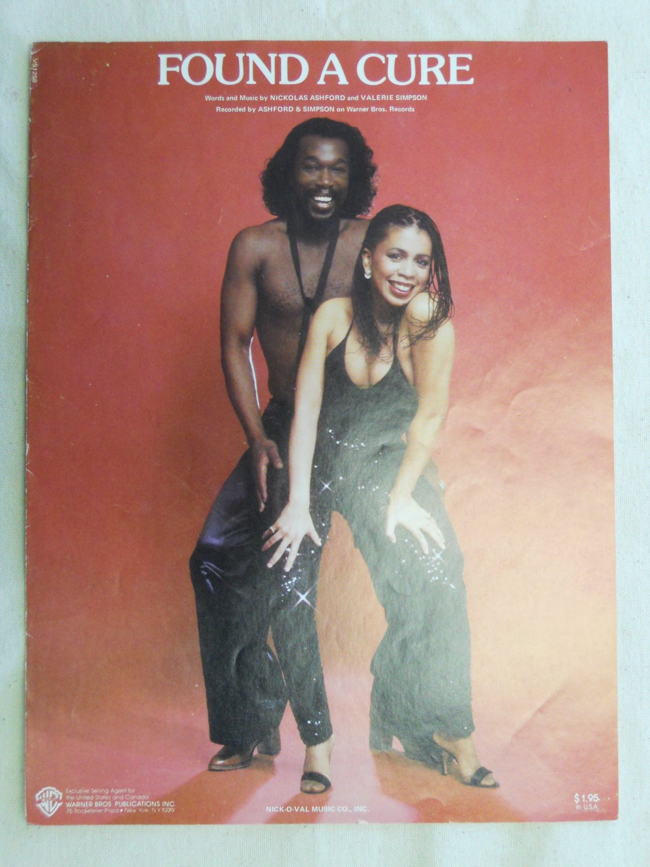 R&B) Ashford & Simpson Found A Cure VG+ op '79 PS Sheet Music