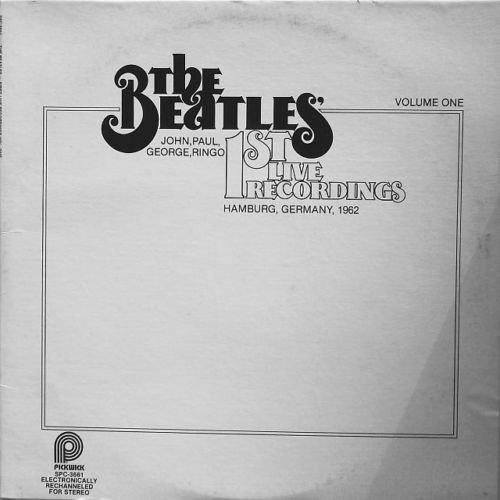 Beatles First Live Recordings VG+ op '79 Canada LP Cover/No Record