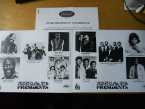 R&B) Dead Presidents Mint op '95 Press Kit-2 Photos. Sly - Aretha