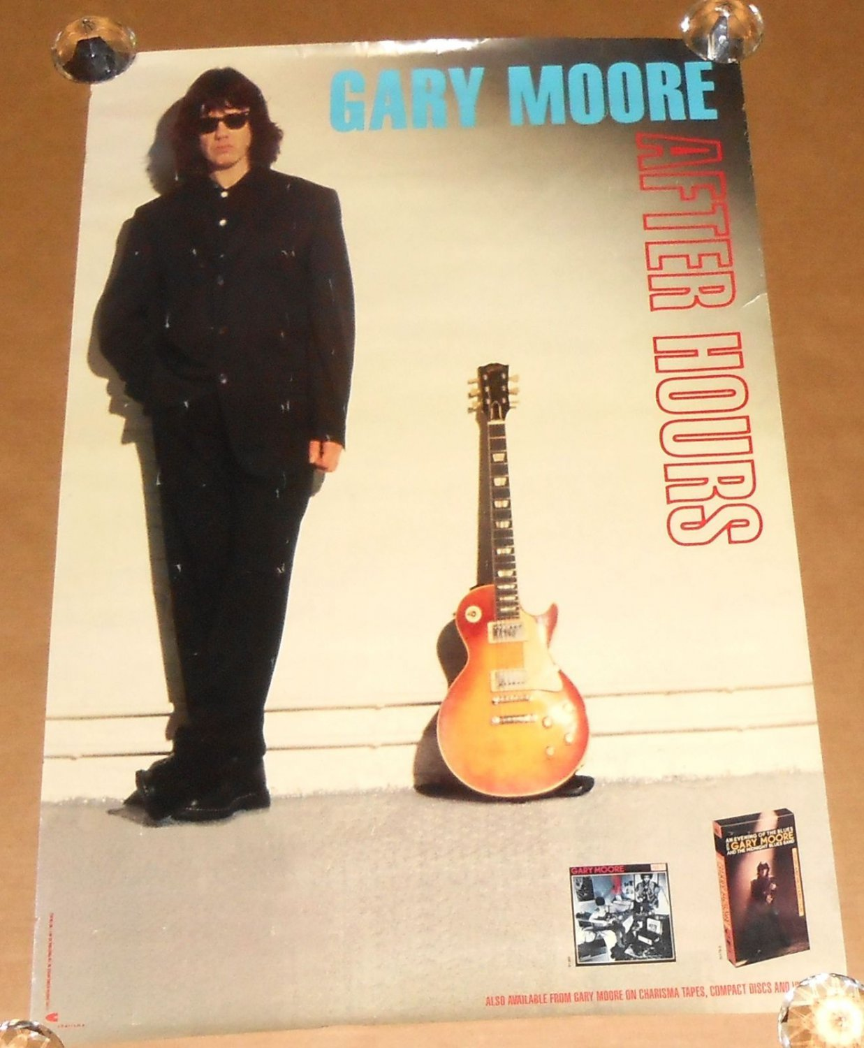 Thin Lizzy) Gary Moore After Hours VG+ op '92 Promo Poster