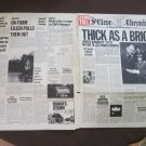 ian anderson & jethro tull thick as a brick original LP newspaper cover  (NO RECORD)