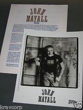 blues breakers) john mayall BIG spinning coin 1995 press kit & photo