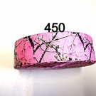 "5 yd - 1.5"" Camo Tree on Pink Grosgrain Ribbon"