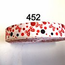 "5 yard - 7/8"" Minnie Mouse Polka Dot Bow on White Grosgrain Ribbon"