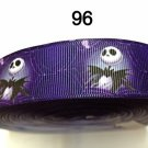 "5 yard - 1"" Nightmare Before Christmas Jack Skull Purple Grosgrain Ribbon"